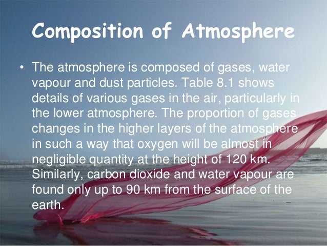 composition and structure of the atmosphere Earth's composition and structure: a journey to the center of the  earth has a stratified atmosphere, mainly composed of nitrogen (n 2) and oxygen (o 2) 4.