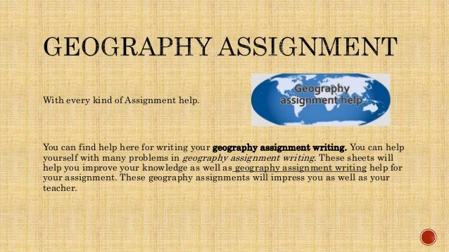 geography assignment