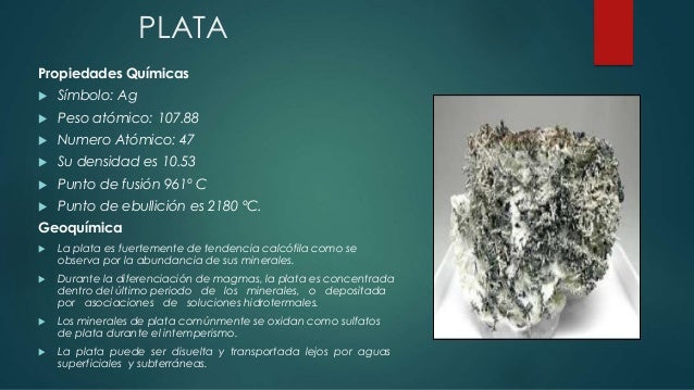 Geoquimica y mineralogia de los elementos - Como se pule la plata ...