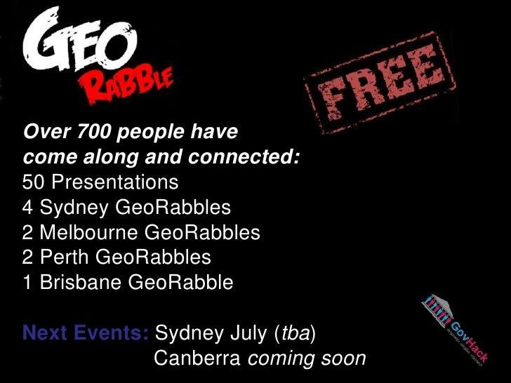 GeoRabble GovHack Sydney Intro