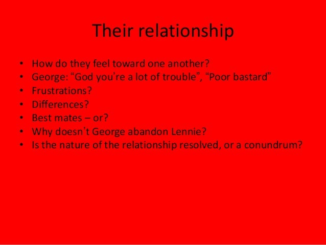 george and lennie in chapter  7 their relationship•