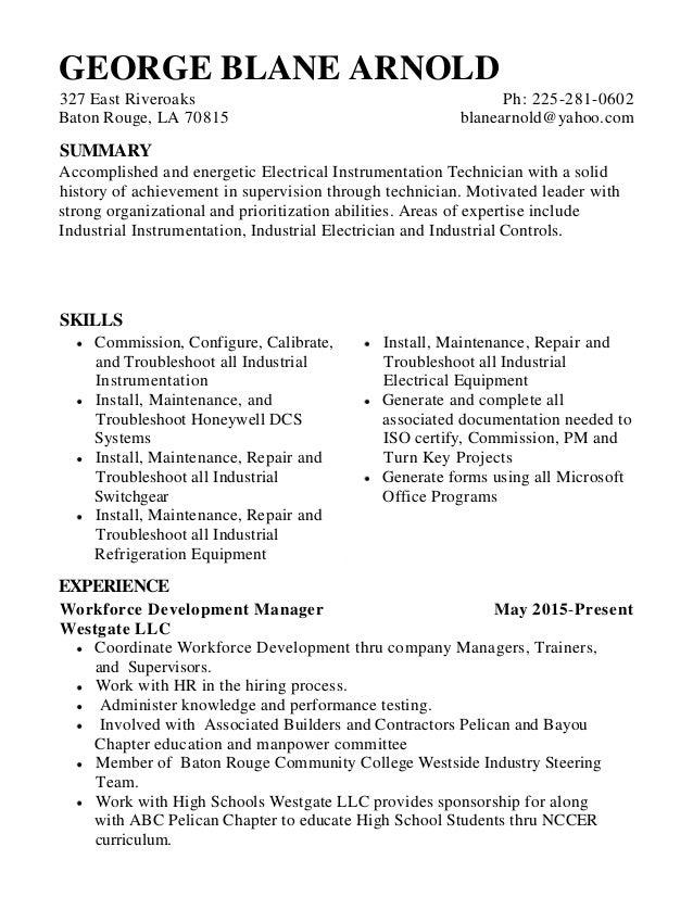george blane resume 1
