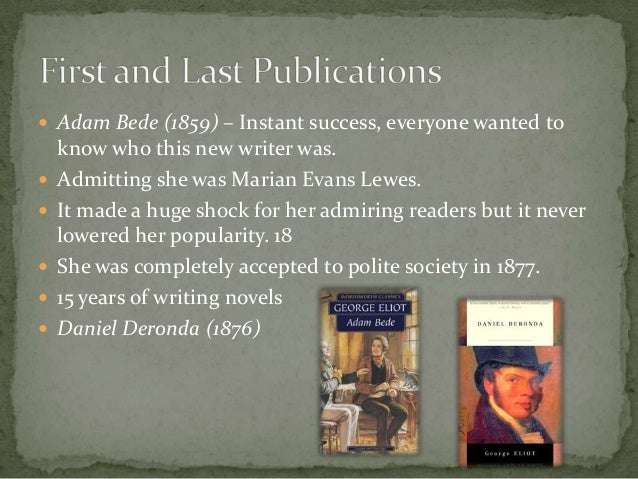 george eliot essay silly novels lady novelists George eliot [mary ann evans] (22 november 1819 - 22 december 1880  in  one of her last essays for the review, silly novels by lady novelists(1856.