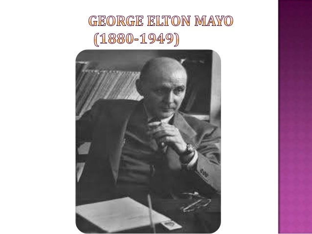 george elton mayo biography