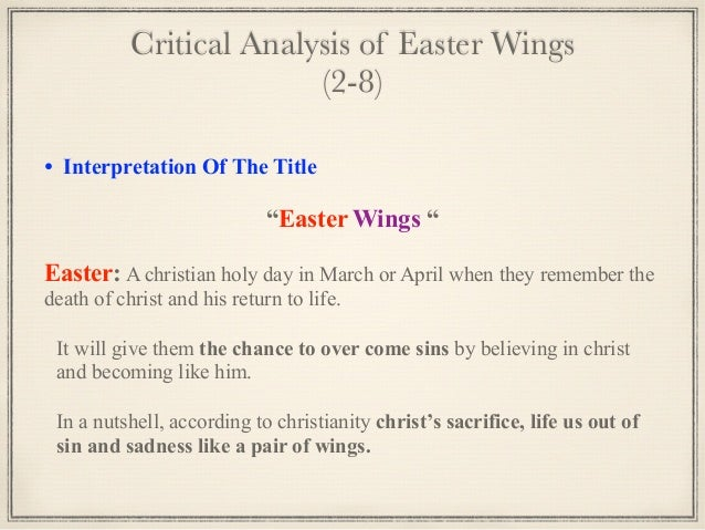 analysis of easter wings by george herbert