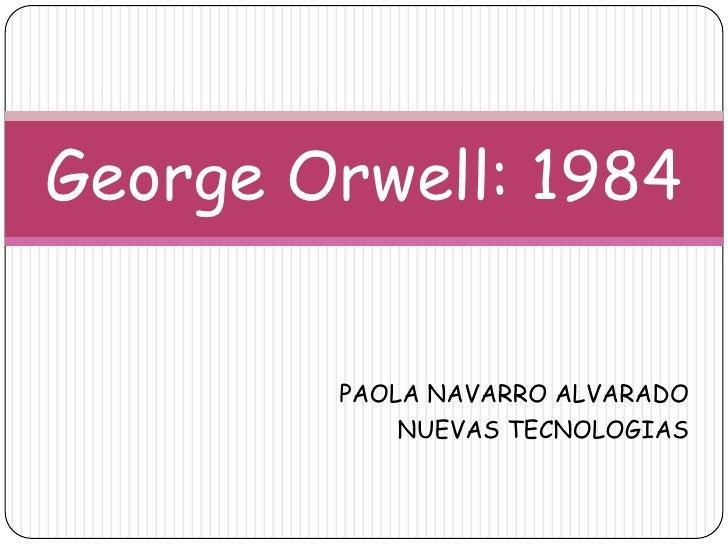 George orwell...