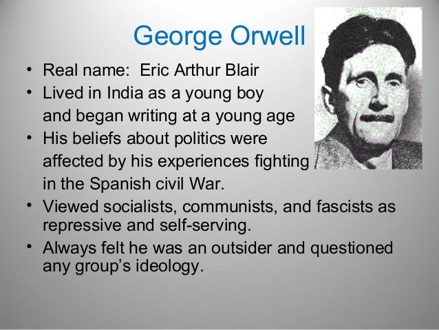 a biography of george orwell a journalist and writer of autobiographical narratives In the short narratives of e m forster  a writer who, by forster's own george orwell is yet another collection of articles derived from papers on orwell at.