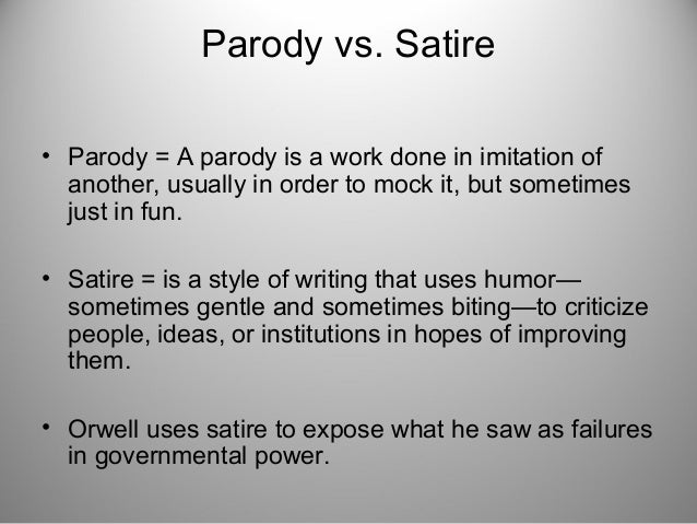 examples of satire in animal farm