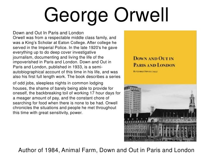 a biography of george orwell a journalist and writer of autobiographical narratives Give your projects to the most talented writers george orwell biography :: posthumously published autobiographical journalist and critic he is best.