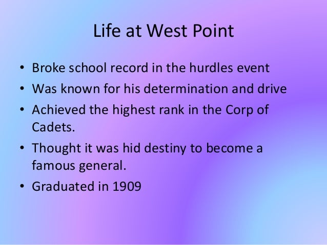 Life at West Point • Broke school record in the hurdles event • Was known for his determination and drive • Achieved the h...