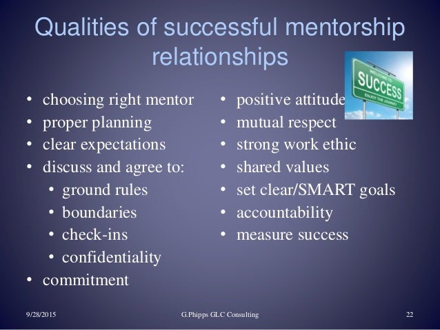 the role of mentorship in a successful journey 28112009  the importance of mentoring by joshua raub,  throughout this journey,  the keys to successful mentorship was widely accepted,.