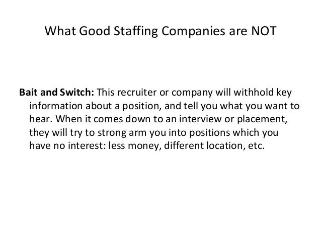 What good staffing/ third party employers ARE Trends: A good recruiter should not only be able to talk to you about what y...