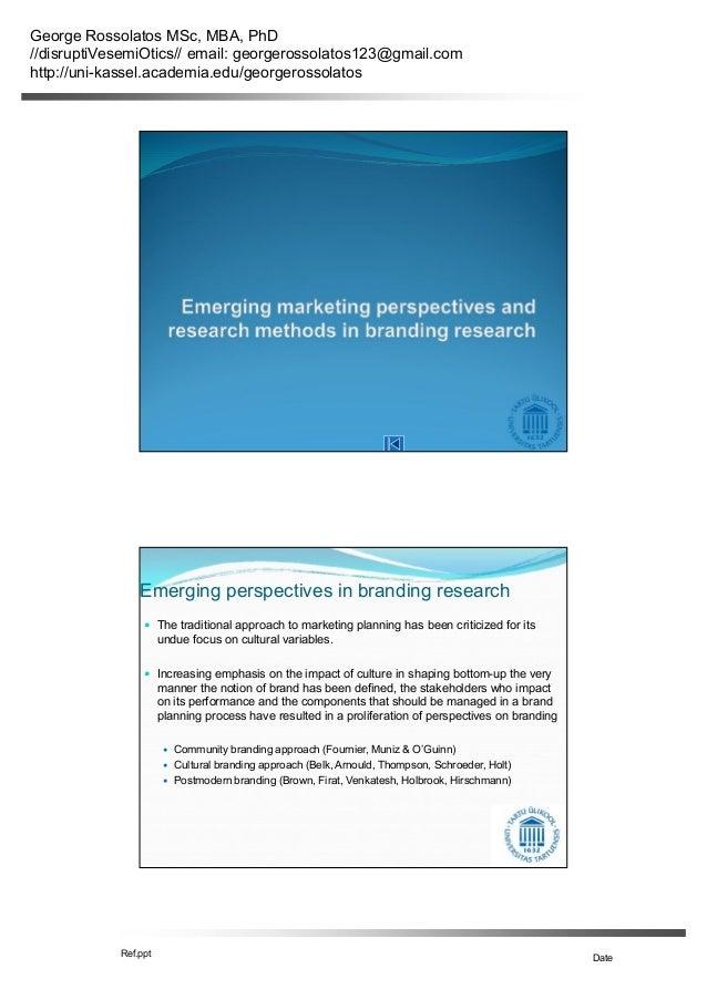 George Rossolatos MSc, MBA, PhD //disruptiVesemiOtics// email: georgerossolatos123@gmail.com http://uni-kassel.academia.ed...