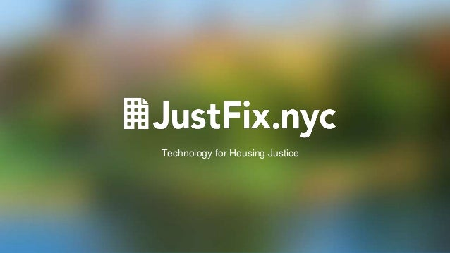 Technology for Housing Justice
