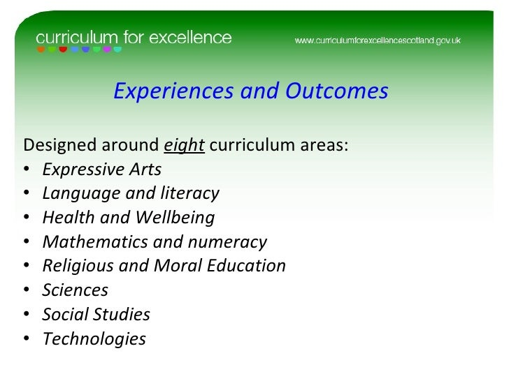 curriculum for the purpose of good quality instance studies