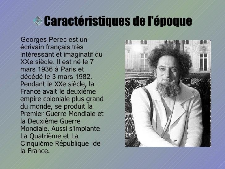 Georges Perec Slide 2