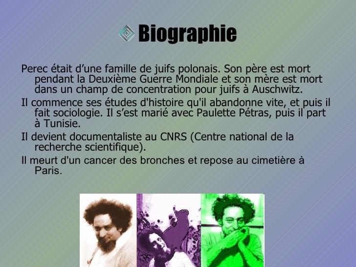 Georges Perec Slide 3