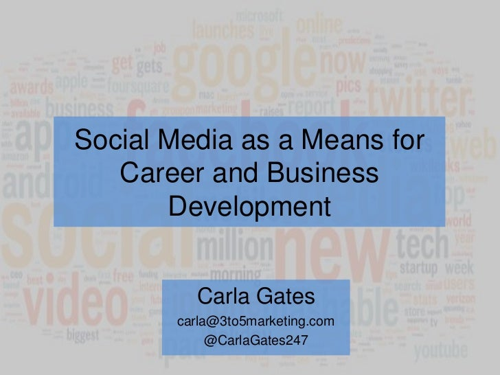 Social Media as a Means for Career and Business Development<br />Carla Gates<br />carla@3to5marketing.com<br />@CarlaGates...