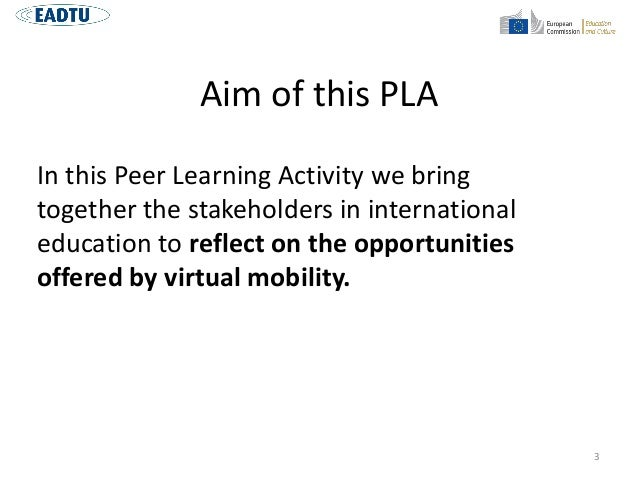 Introduction Peer Learning Activity- Virtual Mobility Slide 3