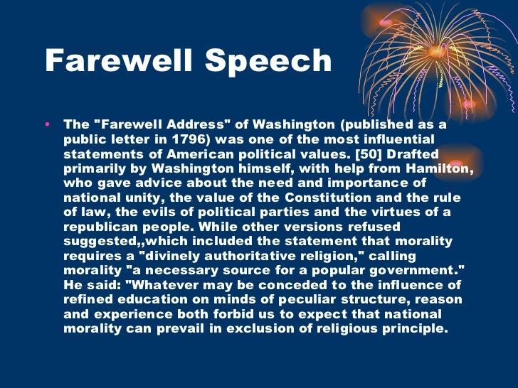 George Washington's Farewell Address Analysis essay