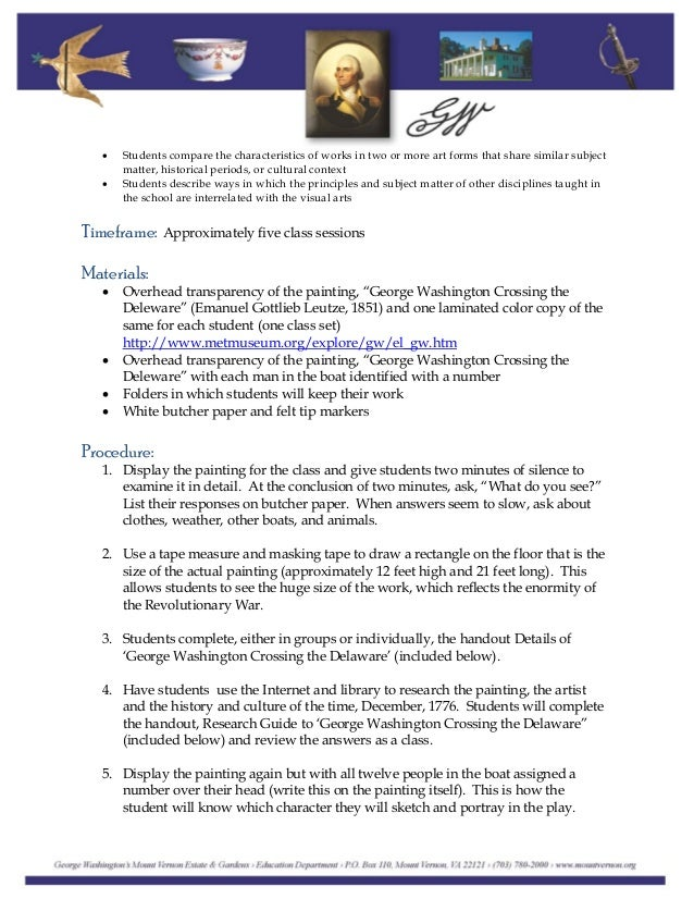 research paper on george washington The official letters and documents of the first united states president george washington.