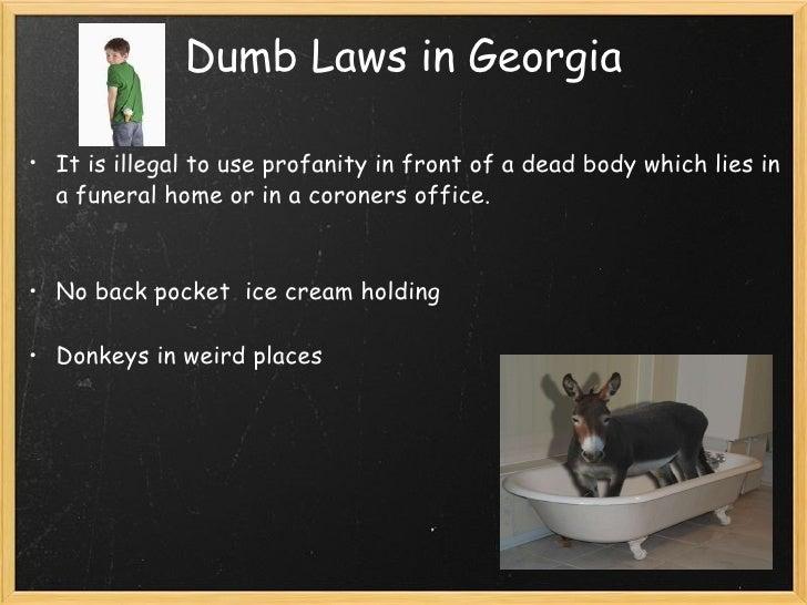 Weird laws in ga