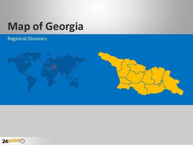 Map of Georgia Regional Divisions