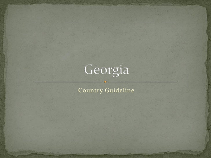 Country Guideline
