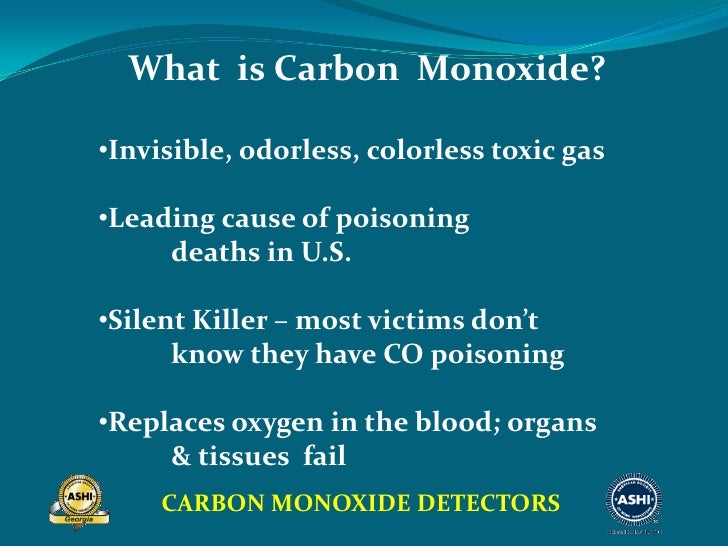 the invisible killer a paper on deaths caused by carbon monoxide Free infographic: carbon monoxide - the invisible killer carbon monoxide (co) is an odorless, colorless gas that can cause sudden illness and death.