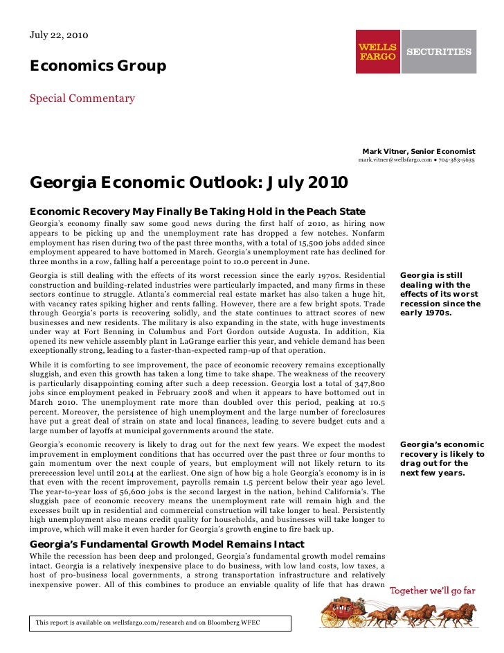 July 22, 2010   Economics Group  Special Commentary                                                                       ...