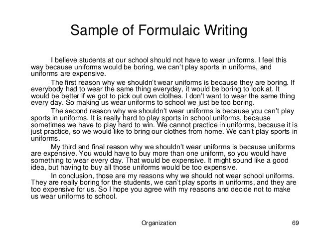 Why we shouldnt write essays