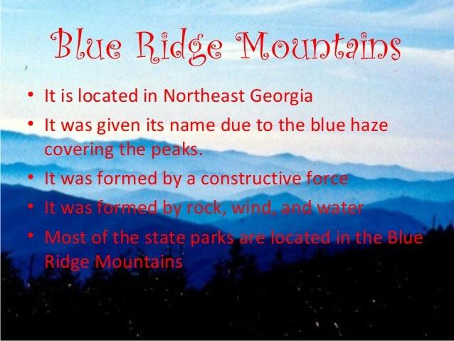 who named the blue ridge mountains - photo#29