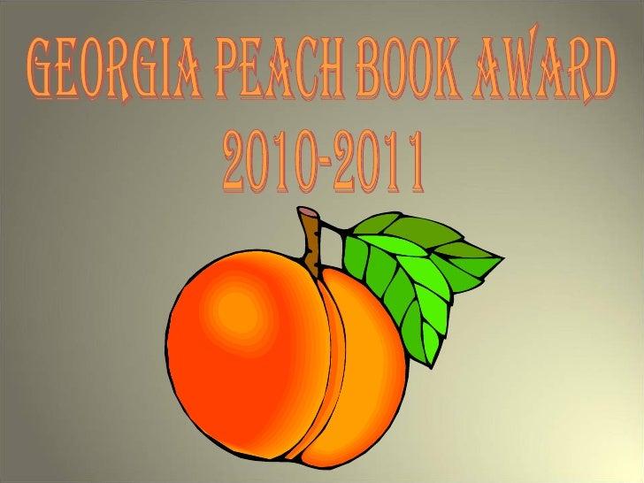 Georgia Peach Award Books 2010 2011