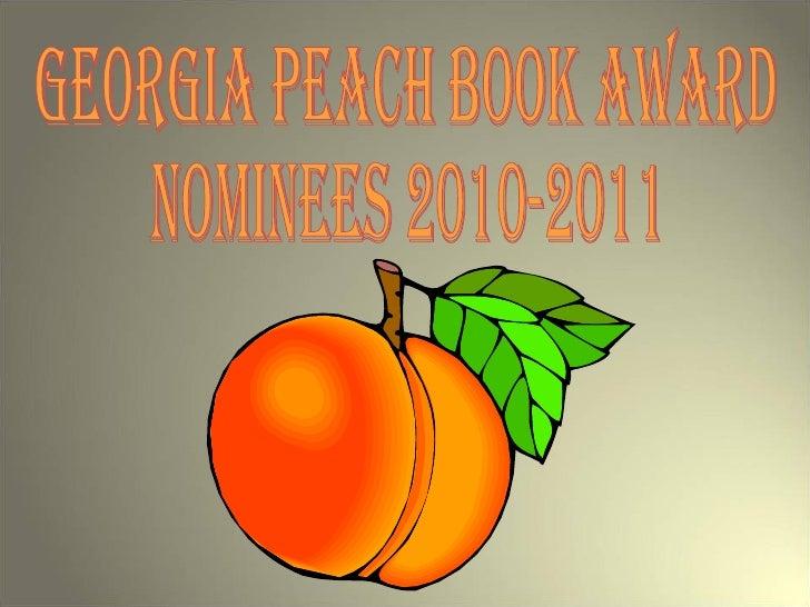 Georgia Peach Book Award Nominees 2010-2011