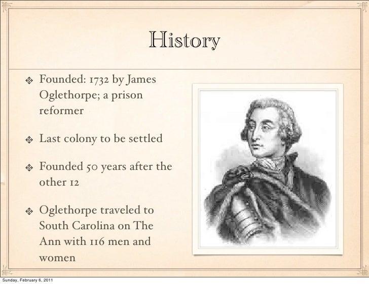 what colony did james oglethorpe established