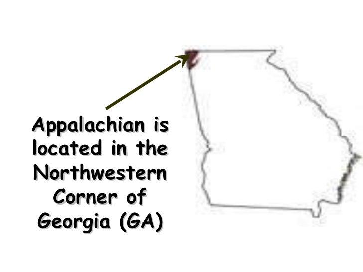 Appalachian is located in the Northwestern Corner of Georgia (GA)