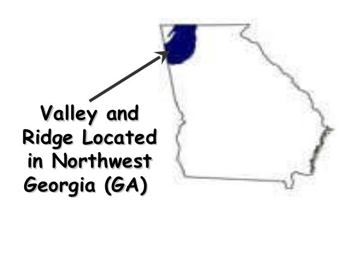 Valley and Ridge Located in Northwest Georgia (GA)