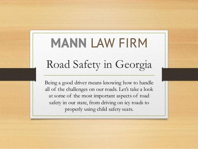 Road Safety in Georgia Being a good driver means knowing how to handle all of the challenges on our roads. Let's take a lo...