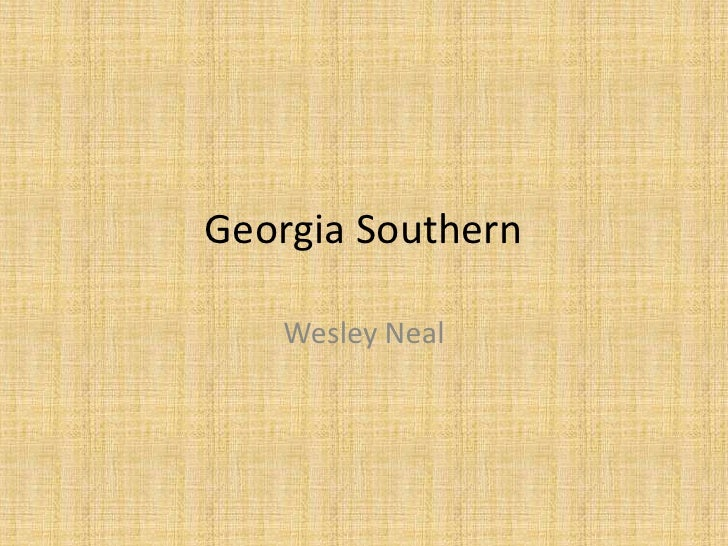 Georgia Southern   Wesley Neal