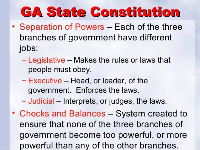 Benchmark review power point ga state constitution separation platinumwayz