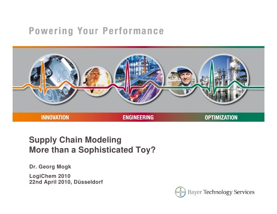 Supply Chain ModelingMore than a Sophisticated Toy?Dr. Georg MogkLogiChem 201022nd April 2010, Düsseldorf