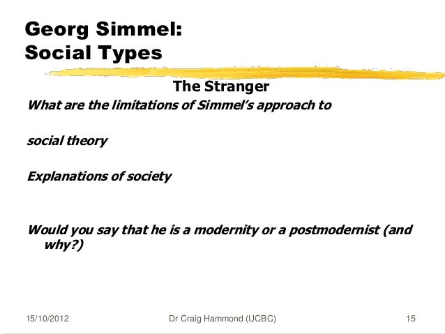 Essay on Georg Simmel