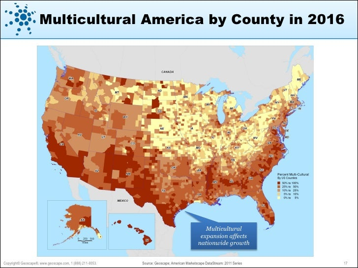 Geoscape American Marketscape Datastream Executive Summary - Map majority minority us