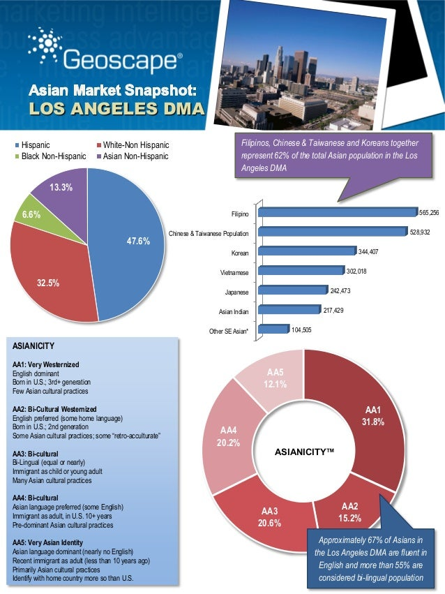 Geoscape Los Angeles Asian Market Snapshot - Los angeles dma map