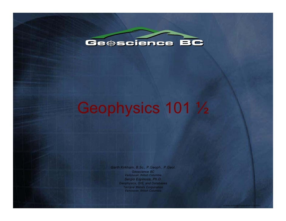 Geophysics in the Quesnel Belt, BC (Geoscience BC)