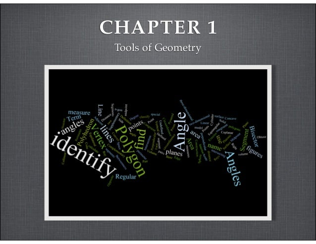 CHAPTER 1  Tools of Geometry