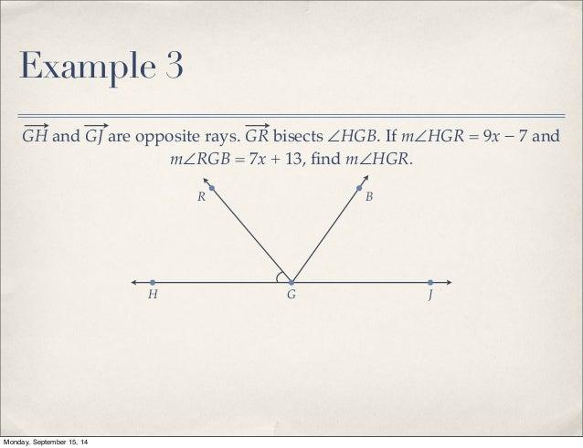 Geometry: segments.