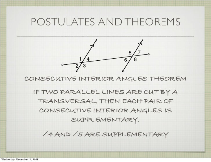 Geometry section 3 2 1112 for Consecutive exterior angles theorem