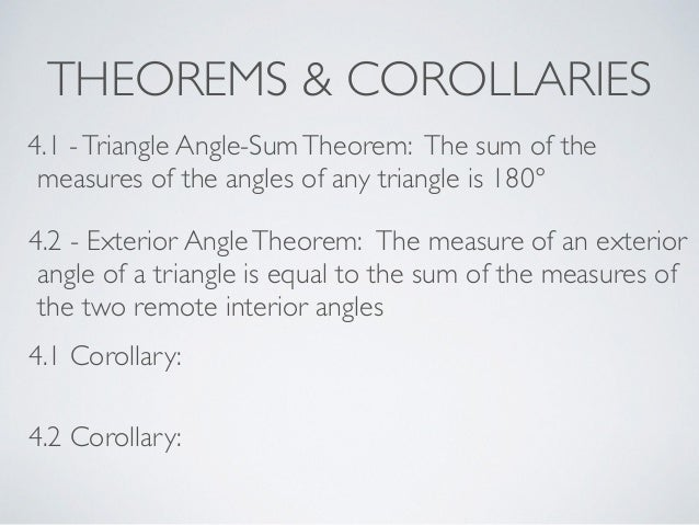 Geometry section 4 2 - The exterior angle of a triangle is equal to ...