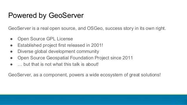GeoServer Ecosystem 2018 Slide 2
